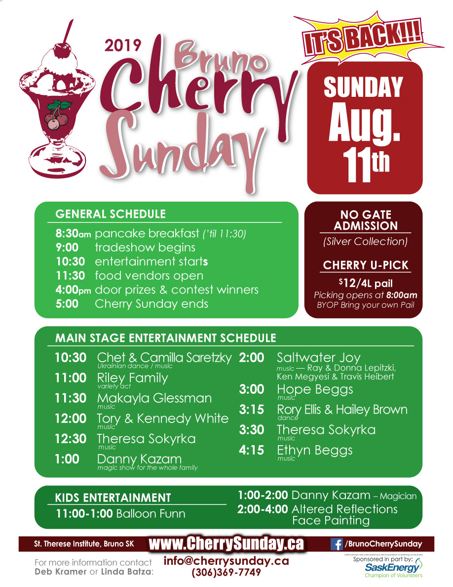 Cherry Sunday Poster - SCHEDULE 2019